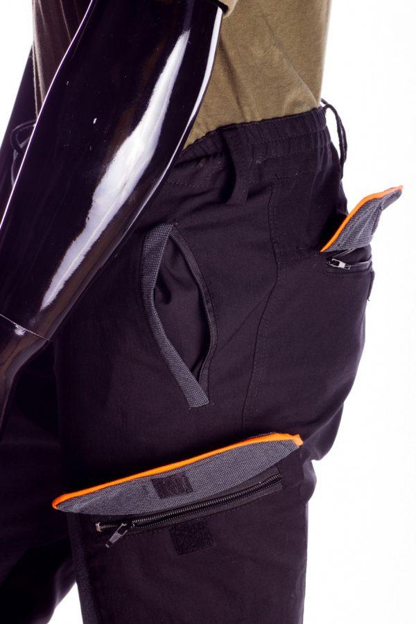 Pantalone da caccia RS Hunting 04 nero-4