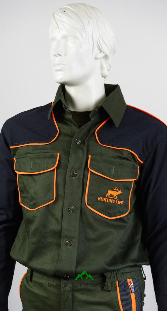 Camicia Hunting Life QF5 Orange QF Abbigliamento