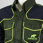 camicia hunting hiking robusta traspirante antistrappo giallo qf abbigliamento