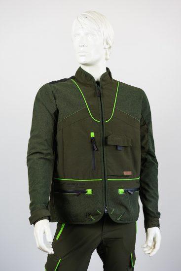 giacca hunting hiking verde qf abbigliamento