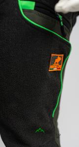 pantalone hunting hiking verde fluo resistente qf abbigliamento