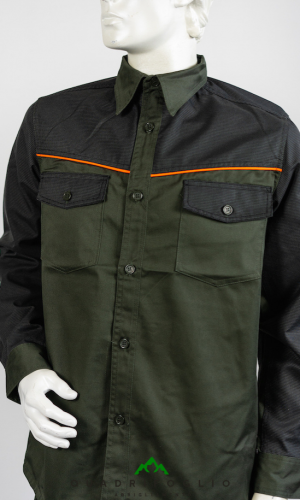 camicia caccia pesca trekking resistente arancio